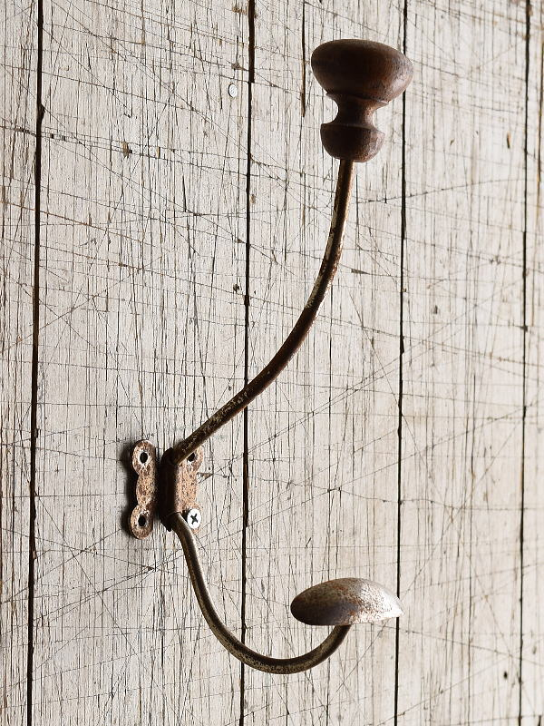 フレンチ  アンティーク 壁掛けコートフック  8406