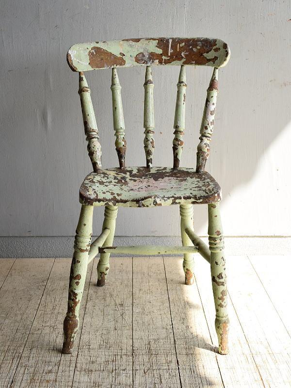 イギリス アンティーク家具 キッチンチェア 椅子 8460