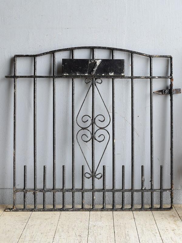 イギリス アンティーク アイアンフェンス ゲート柵 ガーデニング 8562