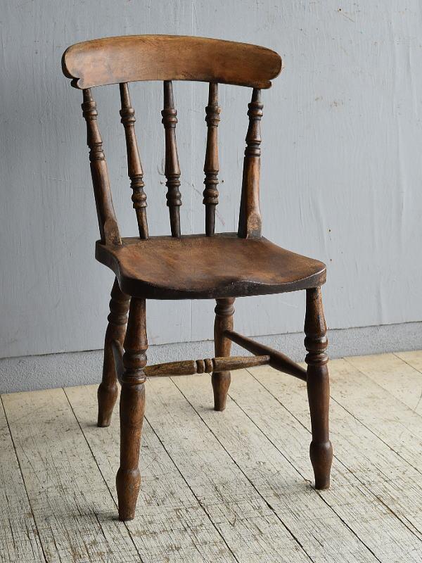 イギリス アンティーク家具 キッチンチェア 椅子 8591