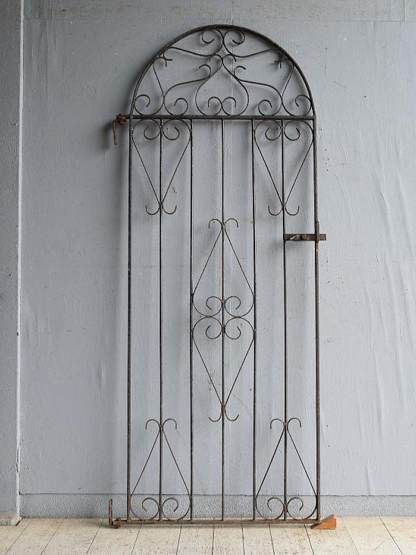 イギリスアンティーク アイアンフェンス ゲート柵 ガーデニング 8627
