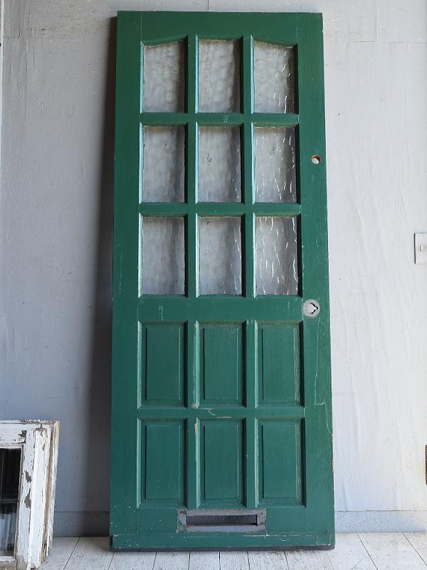 イギリス アンティーク ガラス入りドア 扉 建具 8793