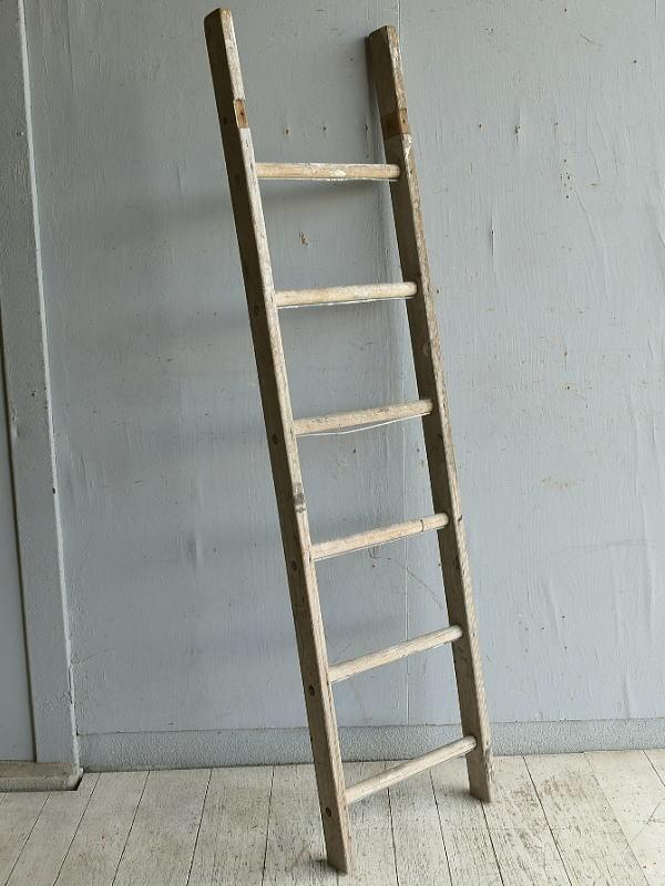 イギリス アンティーク 木製ラダー 梯子 ディスプレイ 8837