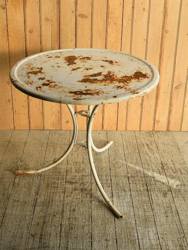 フレンチ アンティーク アイアン ガーデンテーブル 8910