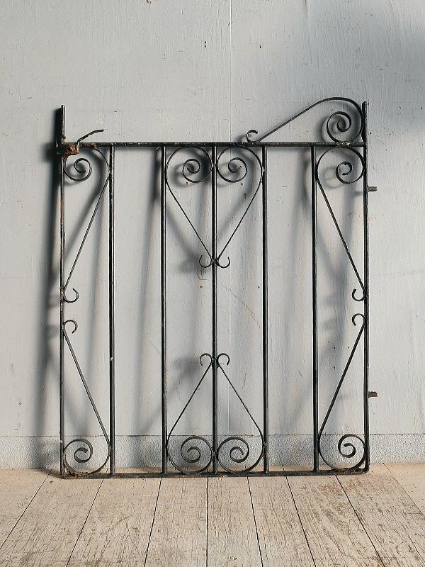 イギリス アンティーク アイアンフェンス ゲート柵 ガーデニング 8959