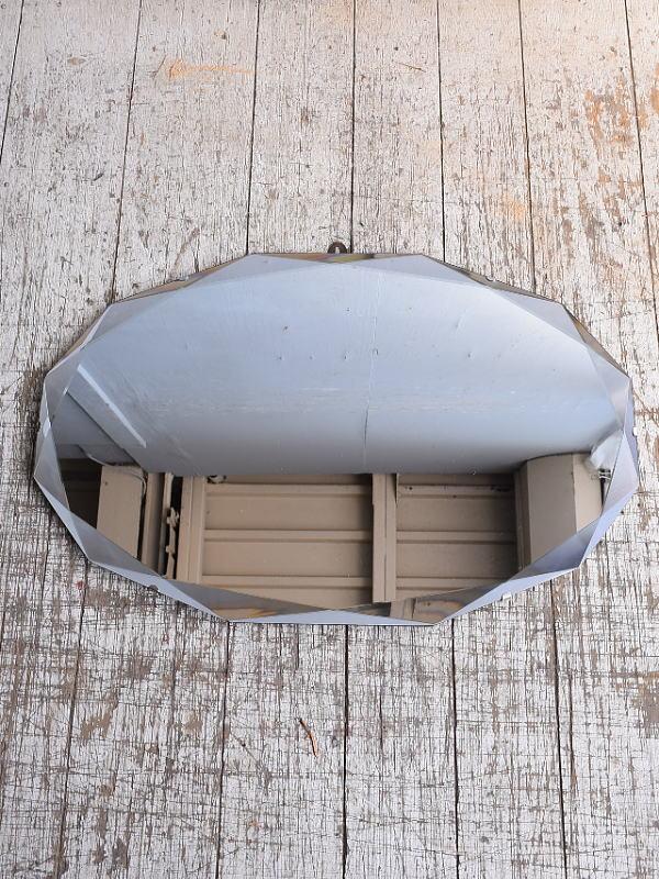 イギリス アンティーク  壁掛けミラー 鏡 9054