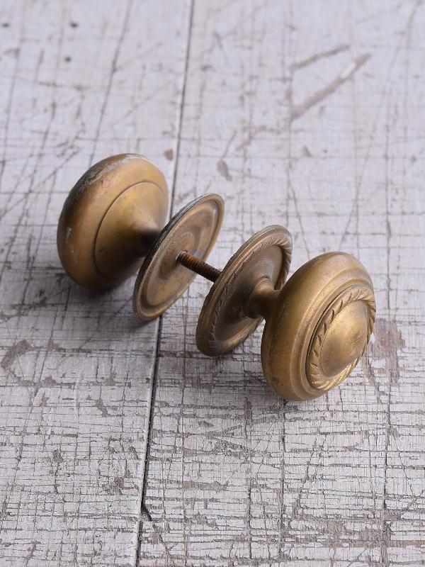 イギリス 真鍮製 ドアノブ ツマミ 建具金物  9245