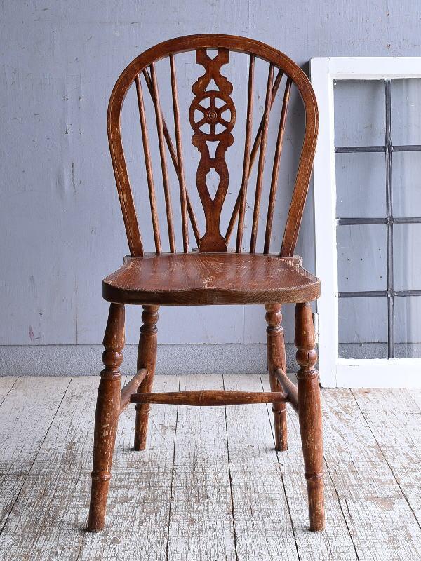 イギリス アンティーク家具 キッチンチェア 椅子 9368