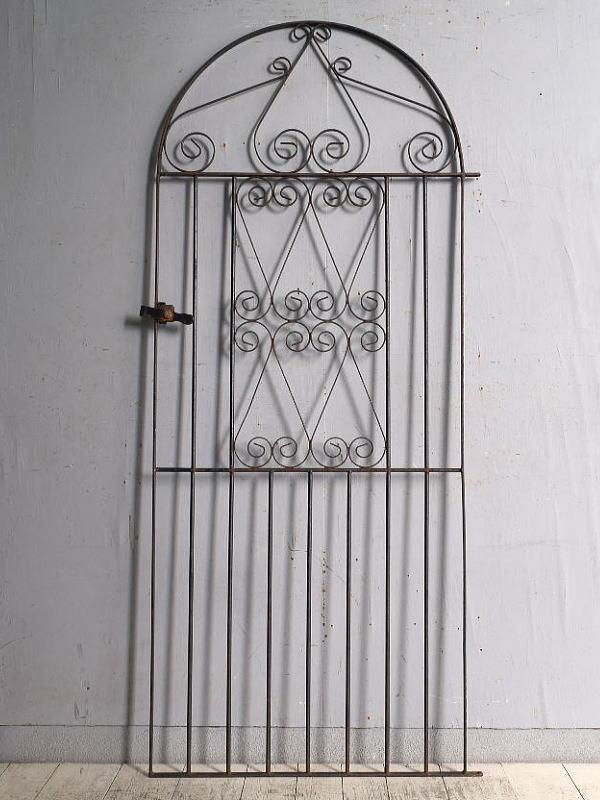 イギリスアンティーク アイアンフェンス ゲート柵 ガーデニング 9658