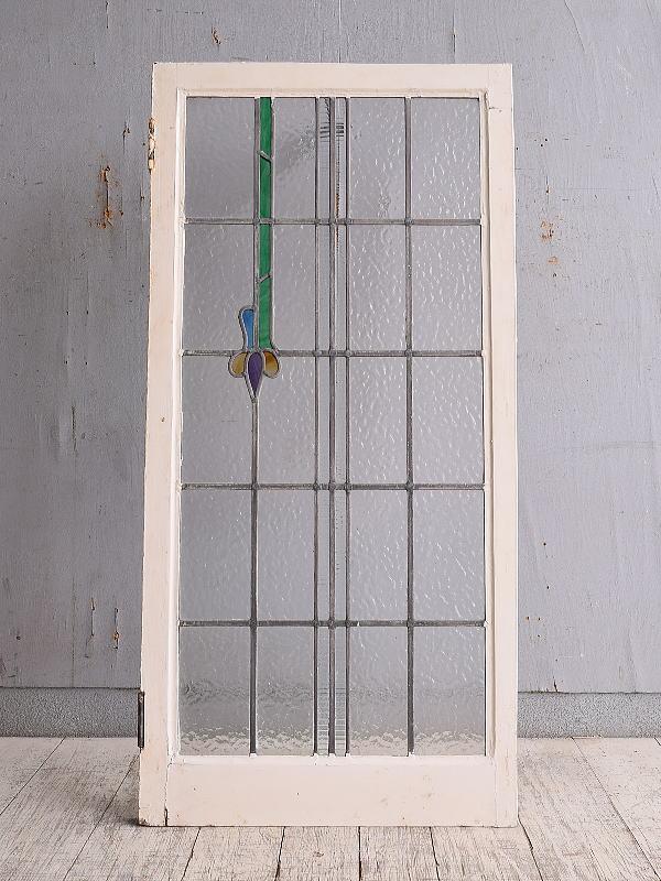 イギリス アンティーク ステンドグラス 幾何学 9903