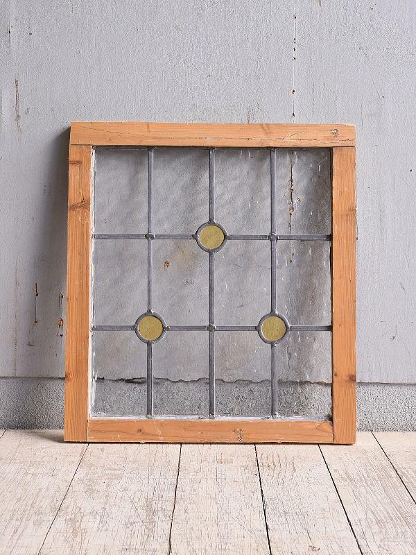 イギリス アンティーク ステンドグラス 幾何学 9970