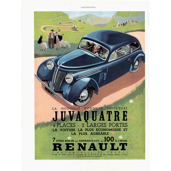 RENAULT(ルノー)クラシックカーのヴィンテージ広告 0026