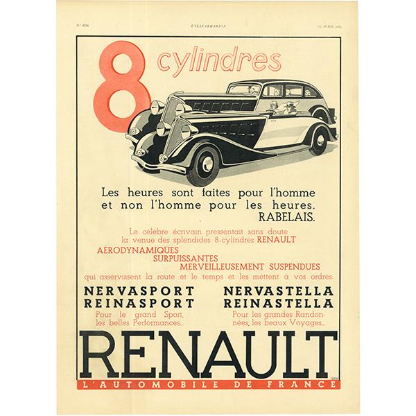 RENAULT(ルノー)クラシックカーのヴィンテージ広告 0029