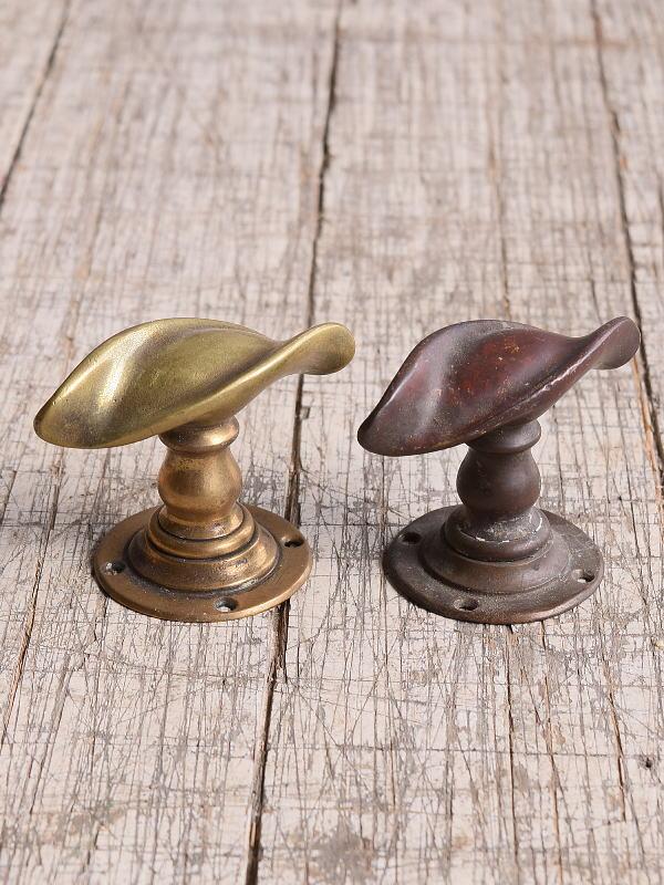 イギリス アンティーク 真鍮 ドアノブ×2 建具金物 握り玉 10014