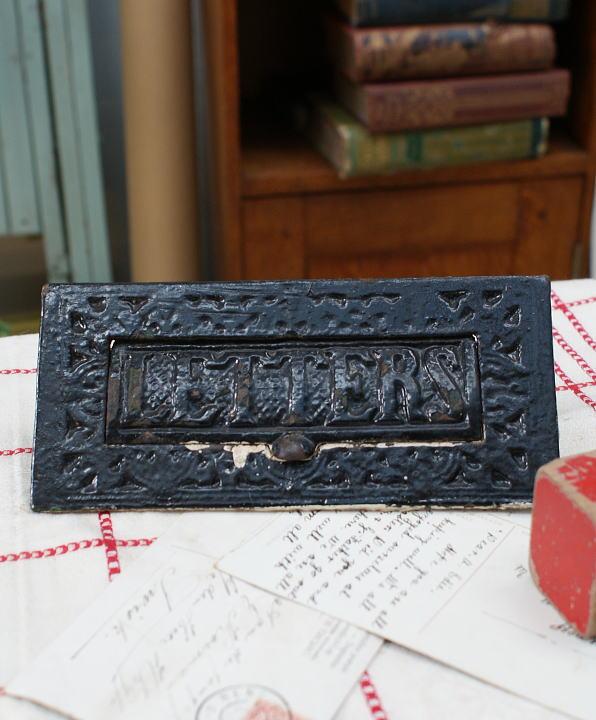 イギリス アンティーク レタースロット 郵便受け 建具金物1009