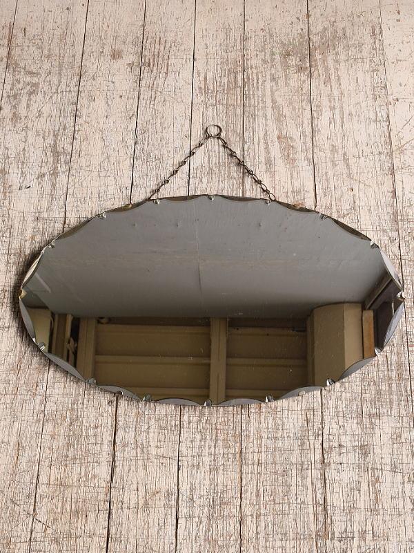 イギリス アンティーク  壁掛けミラー 鏡 10117