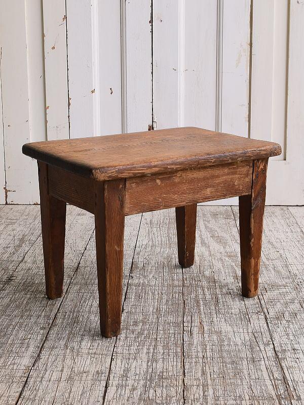 イギリス アンティーク家具 木製 スツール  椅子 10120