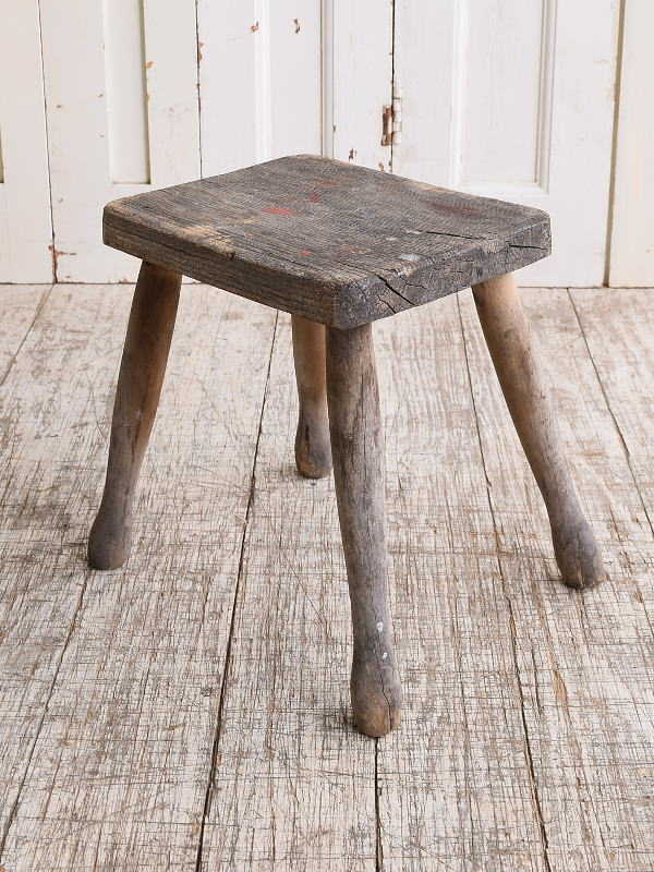 イギリス アンティーク家具 木製 スツール  椅子 10122