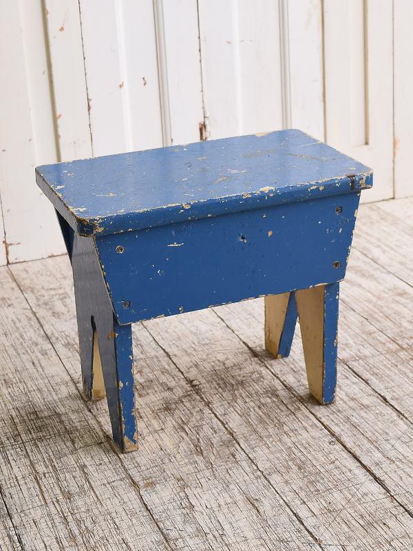 イギリス アンティーク家具 木製 スツール  椅子 10123
