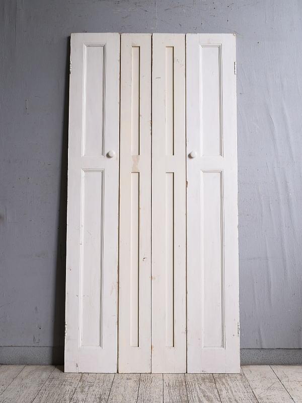 イギリス アンティーク カップボードドア 折れ戸 扉 10127