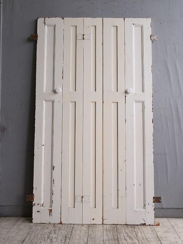 イギリス アンティーク カップボードドア 折れ戸 扉 10128
