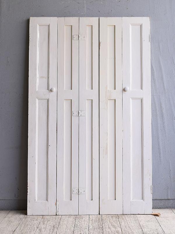 イギリス アンティーク カップボードドア 折れ戸 扉 10131