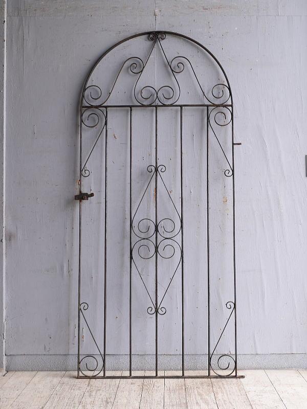 イギリスアンティーク アイアンフェンス ゲート柵 ガーデニング 10192