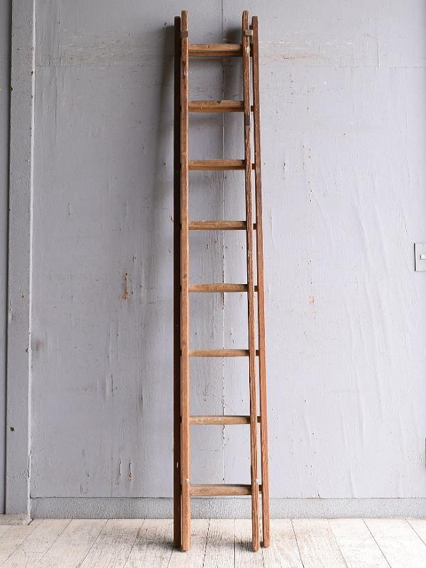 イギリス アンティーク 木製ラダー 梯子 ディスプレイ 10193