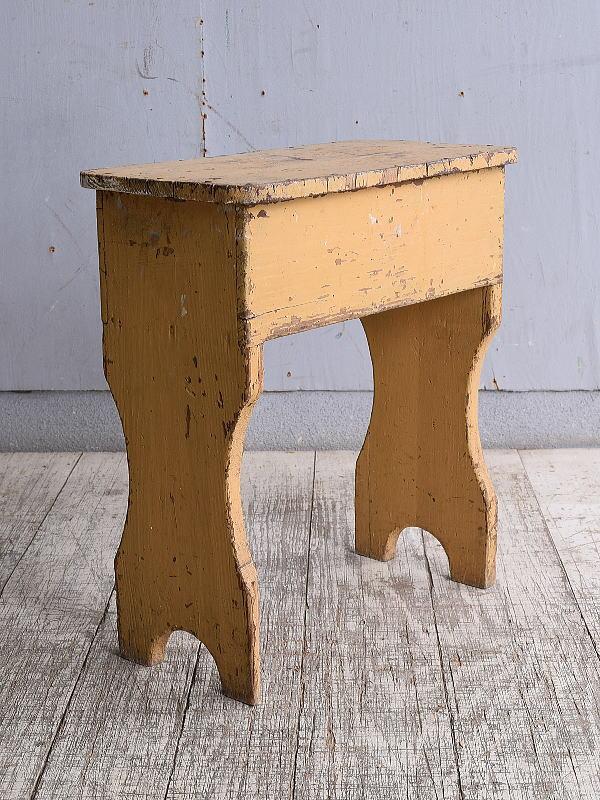 イギリス アンティーク家具 木製 スツール  椅子 10206