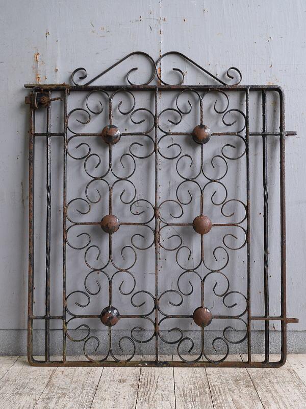 イギリス アンティーク アイアンフェンス ゲート柵 10215