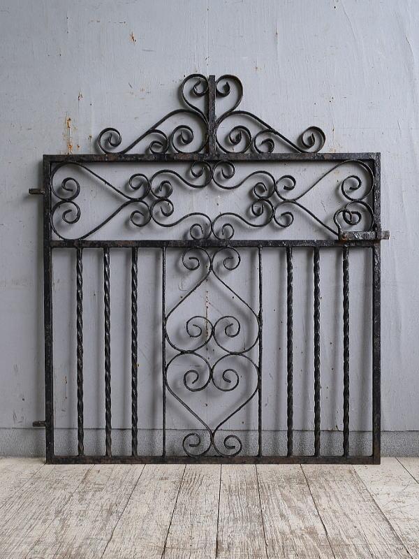 イギリス アンティーク アイアンフェンス ゲート柵 10216