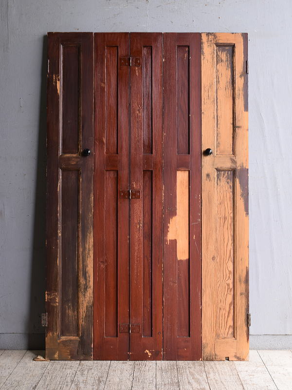 イギリス アンティーク カップボードドア 折れ戸 扉 10229