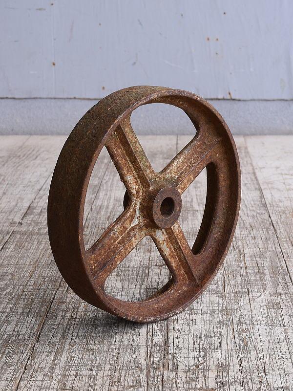 イギリス アンティーク 鉄製 車輪  10247