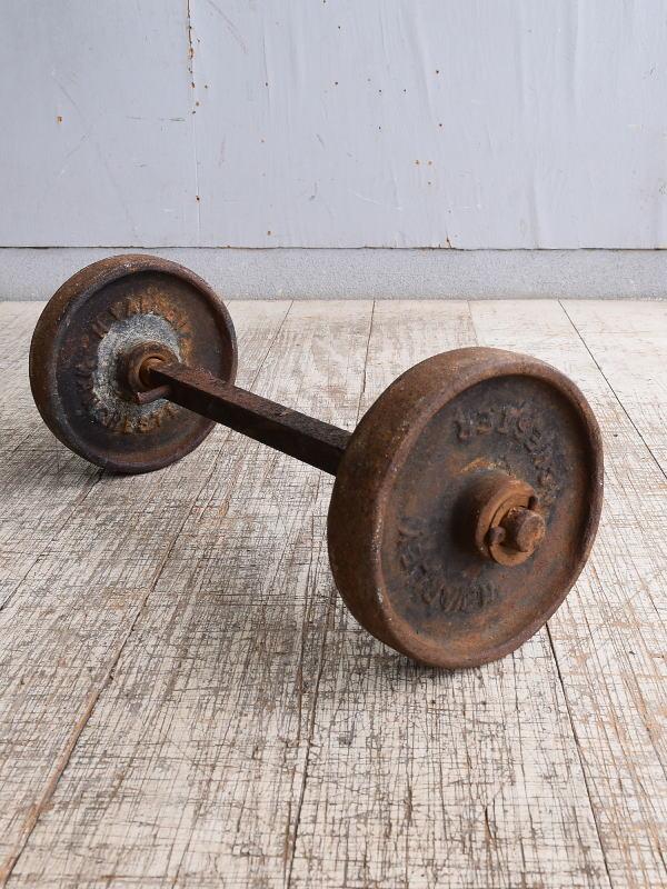 イギリス アンティーク 鉄製 車輪×2 10250