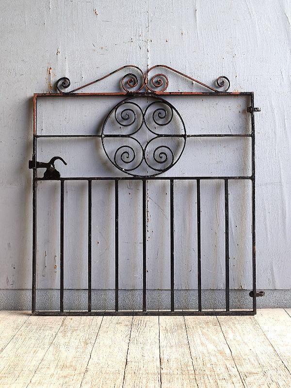 イギリス アンティーク アイアンフェンス ゲート柵 10272