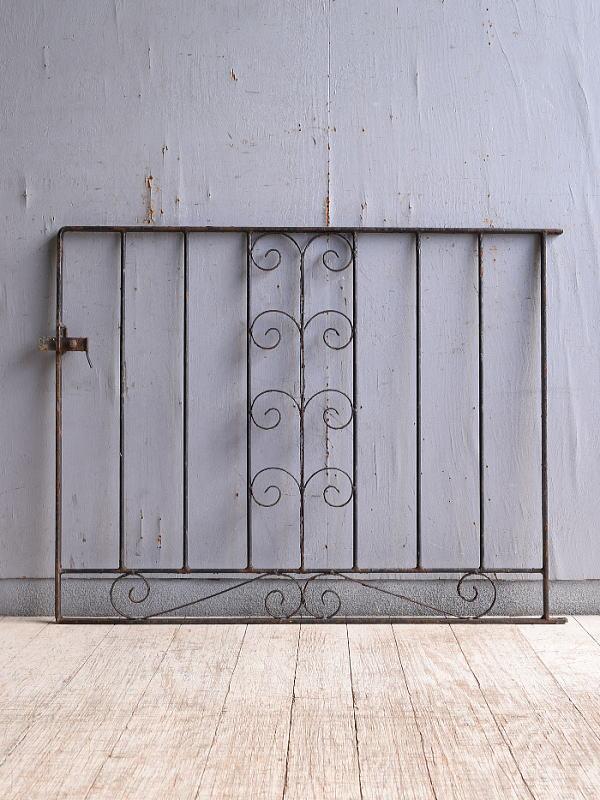 イギリス アンティーク アイアンフェンス ゲート柵 10274