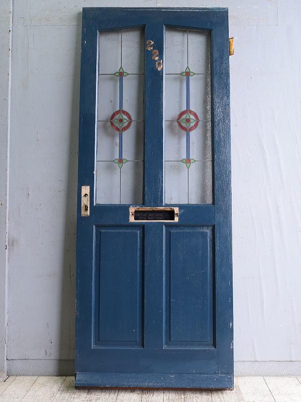 イギリス アンティーク ガラス入りドア 扉 建具 10325