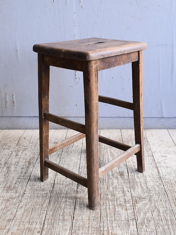 イギリス アンティーク家具 木製 スツール  椅子 10382