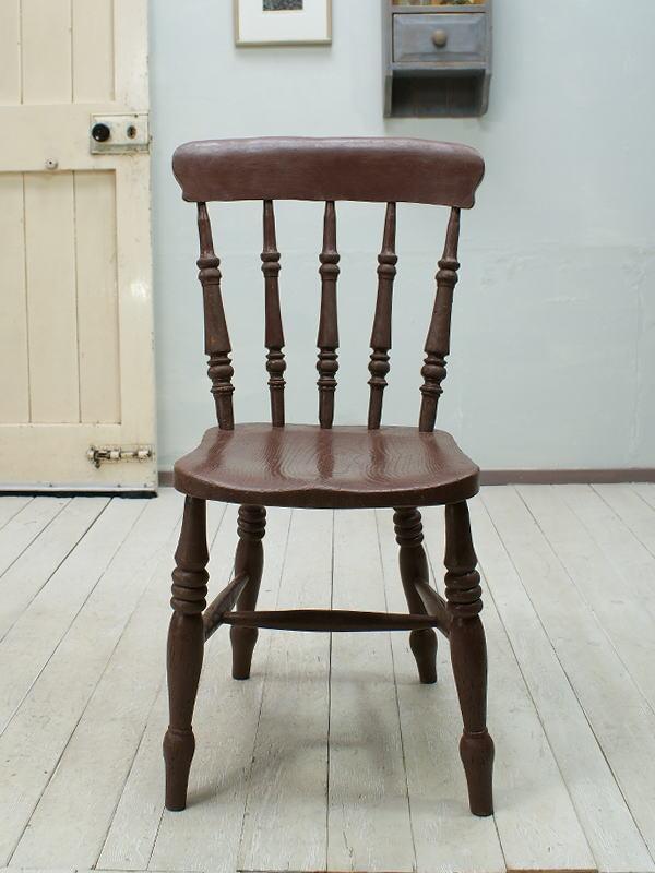 イギリス アンティーク家具 キッチンチェア 椅子 ペイント 1205