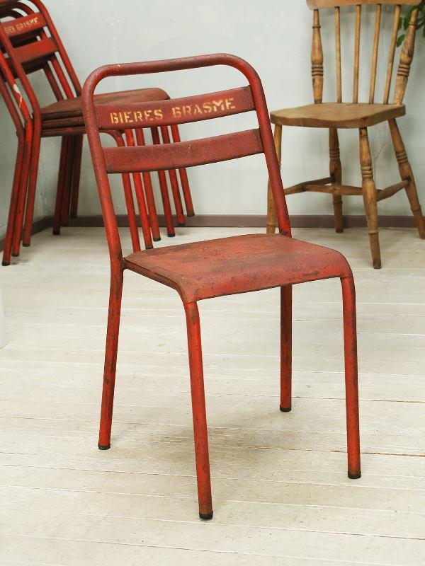 フレンチ アンティーク家具 アイアン カフェチェア ガーデンチェア 椅子