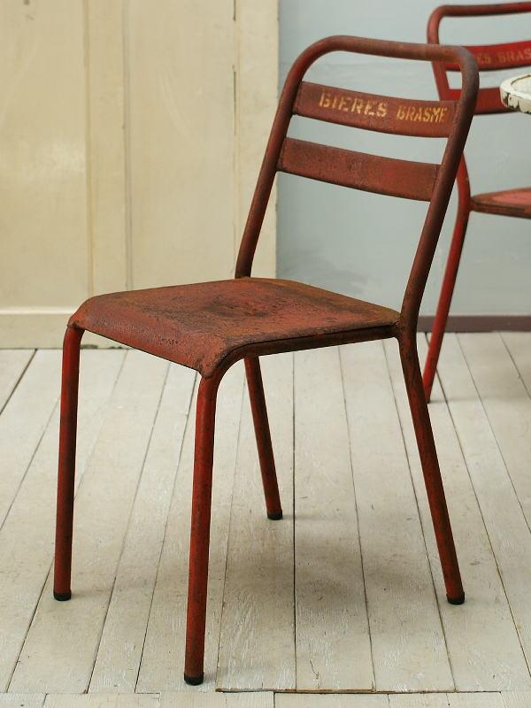 フレンチ アンティーク家具 アイアン カフェチェア ガーデンチェア 椅子 1355