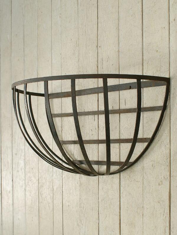 イギリス アンティーク ハンギングプランター ウォールバスケット ガーデニング 1615