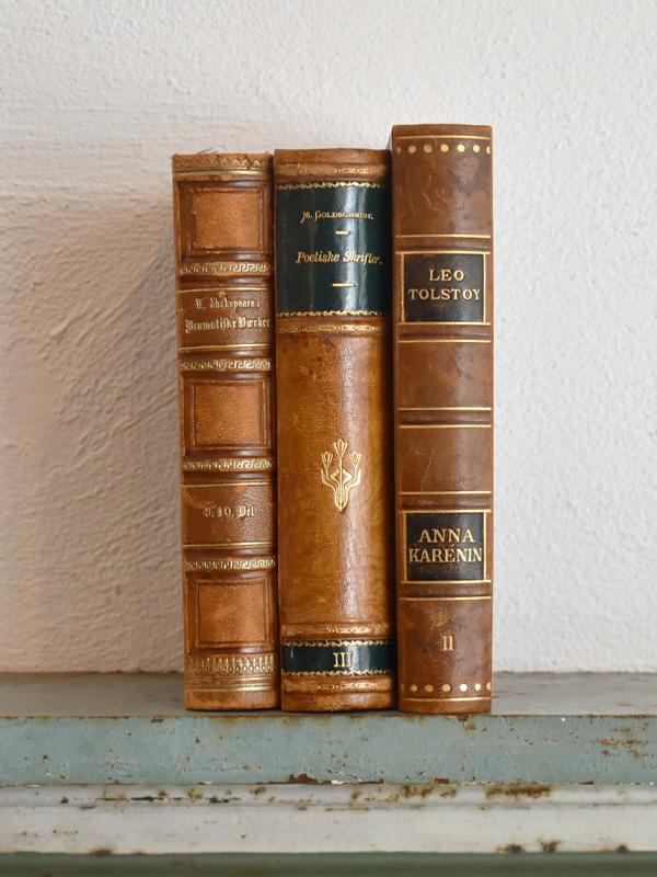 デンマーク 北欧 アンティークブック 古い洋書 3冊セット ディスプレイ018