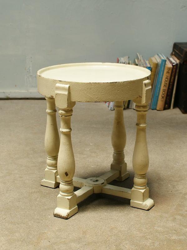 イギリス アンティーク サイドテーブル ペイント家具 2130