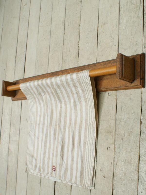 フレンチ アンティーク 木製タオルハンガー 2406