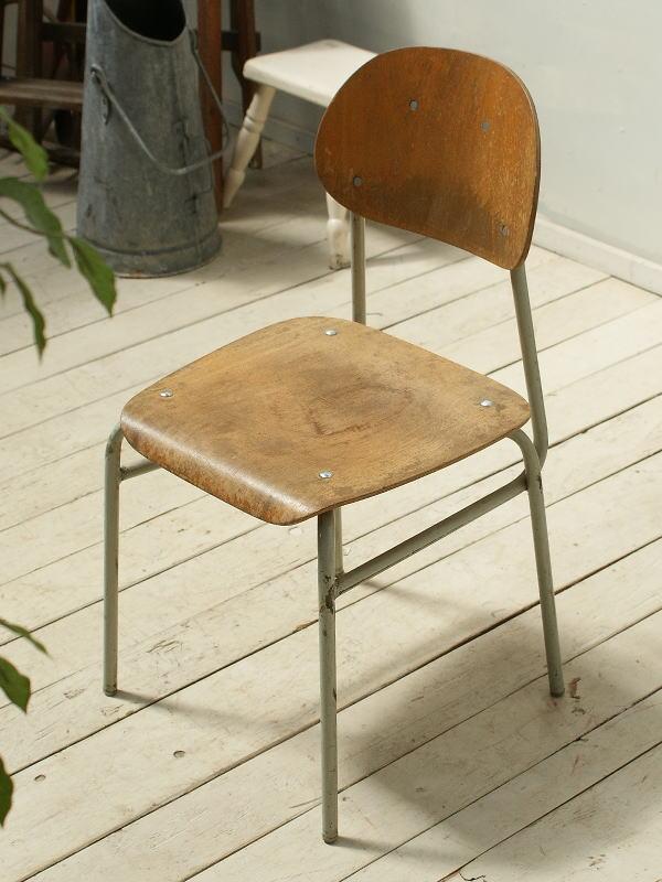 イギリス アンティーク スクールチェア 椅子 2348