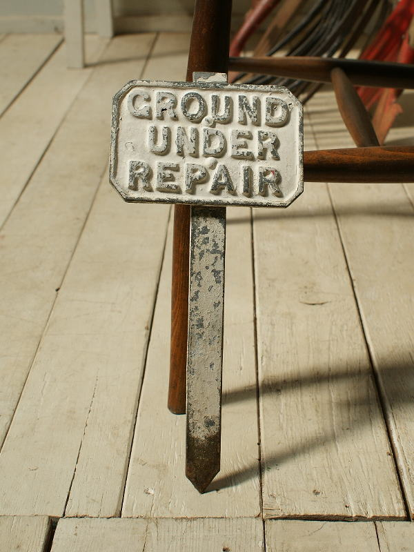 イギリス アンティーク ゴルフ場のサイン 標識 看板 2519