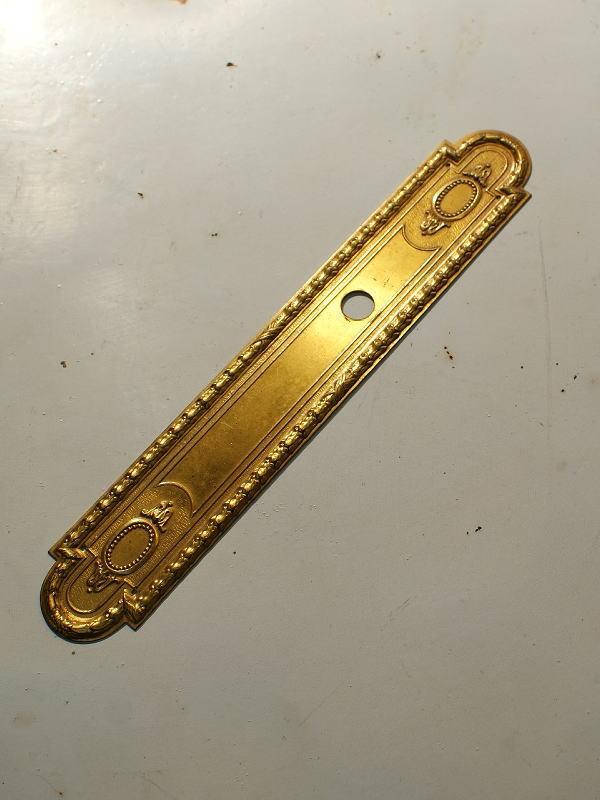 フレンチ アンティーク 真鍮フィンガープレート ドアプレート 2570