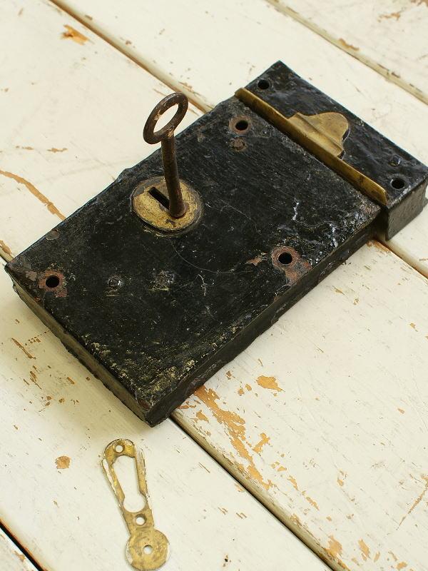 イギリス アンティーク 箱錠 建具金物 2780
