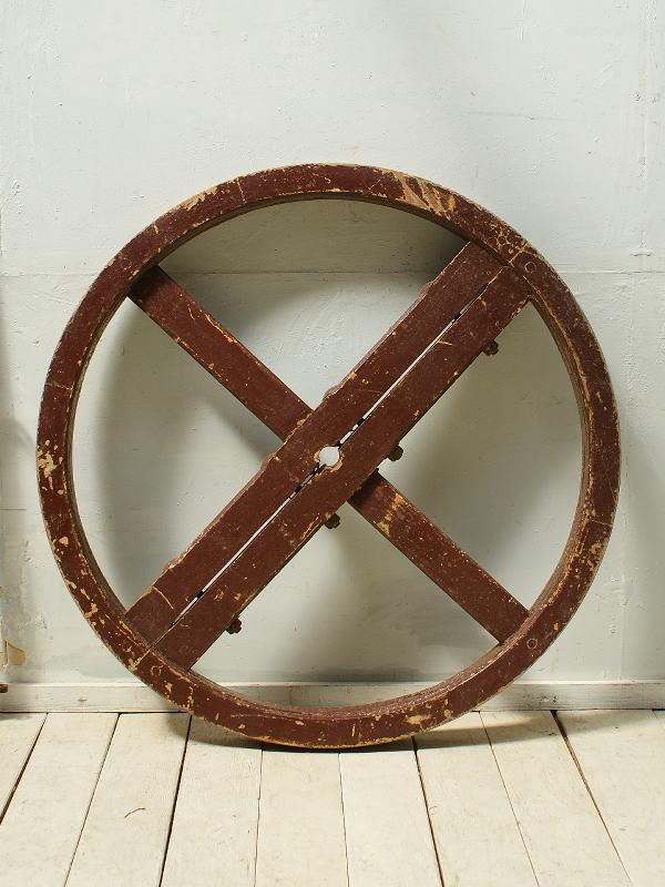 イギリス アンティーク 木製 車輪(大) ガーデンオーナメント 3132